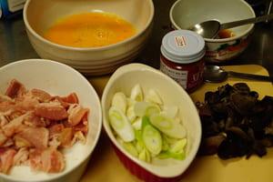 豚キクラゲ卵炒め 調理