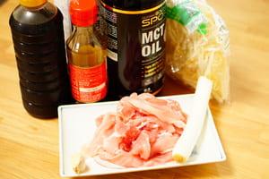 豚もやしの中華和え 調理