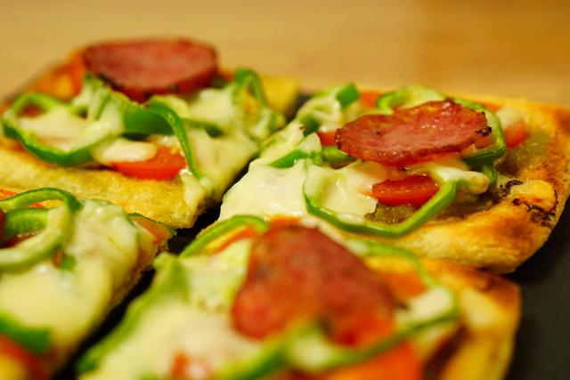 油揚げのピザ 完成