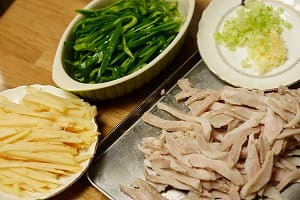 青椒肉絲 調理