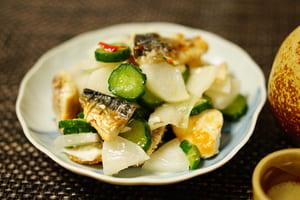 塩サバのマリネ 調理