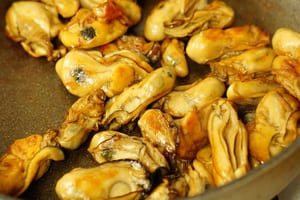 牡蠣のオイル漬 調理
